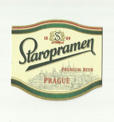STAROPRAMEN BEER CZECH REPUBLIC UKRAINIAN LANGUAGE ADVERTISING BEER MAT COASTER