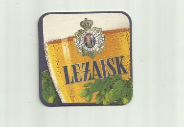 LEZAJSK BEER POLISH ADVERTISING BEER MAT COASTER
