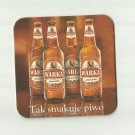 WARKA 1478 FOUR BOTTLES POLISH ADVERTISING BEER MAT COASTER