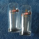 PERGE PILSNER BEER GLASSES FROM TURKEY PAIR FROM SMALL TURKISH BREWERY
