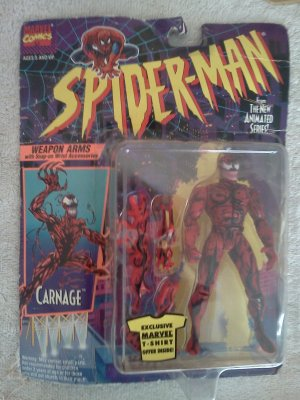 Spider-Man New Animated Series Carnage Figure by Toy-biz 1994