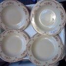 "Set of 4 Shenango Inca Ware Chardon Rose Plates 9"" Restaurant Ware pre 1950s"