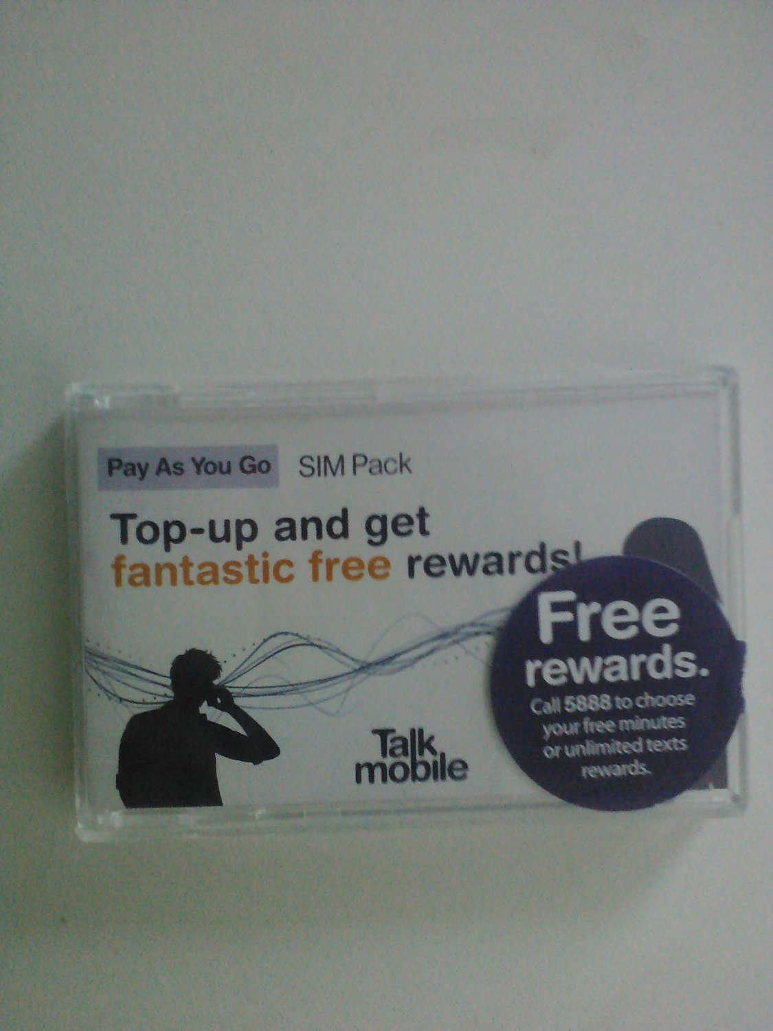 New Talkmobile world UK prepaid gsm sim card pack with sim card including £10 credit
