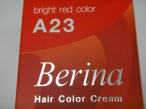Berina Bright Red Color/Permanent Hair color dye