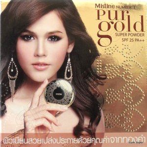 Mistine Number 1 Pur Gold Super Face Powder  Shade No. 2