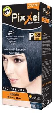 Lolane Hair Color Cream  Permanent Hair Dye Intense Blue