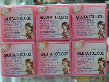 X6 Bars Gluta 100000 Bleaching Whitening   Soap
