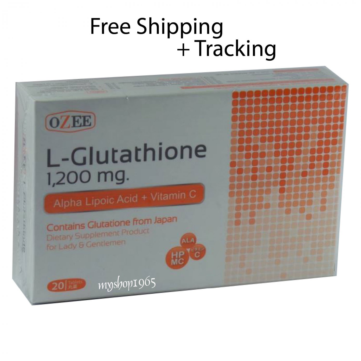 OZEE L-GLUTATHIONE 1200MG WITH VITAMIN C SUPPLEMENTS