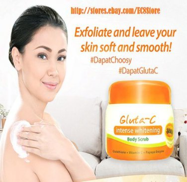 Gluta-C Intense Whitening Glutathione Vitamin C Papaya Enzyme Body Scrub 120g