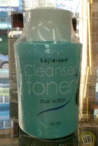 2 bottle Kojie San DUAL ACTION CLEANSER and TONER 50ml each