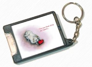 American Eskimo Dog - Flashlight Keychain - cute eskie design