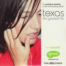 Texas - The Greatest Hits: An Exclusive Album Preview (Times CD promo comp inc Halo; In Our Lifetime
