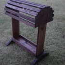 Pine Saddle Rack / Stand W/Tray Finished