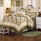 Lady Scarborough Fair Handmade Quilt Free Shams King