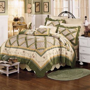 Lady Scarborough Fair Handmade Quilt Free Shams King