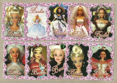 COLLECTION OF TEN BARBIE DOLL RUSSIAN LANGUAGE CALENDAR CARDS 2010
