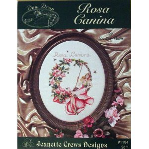 Dew Drop, Rosa Canina, Cross Stitch (Jeanette Crews Designs #1194)