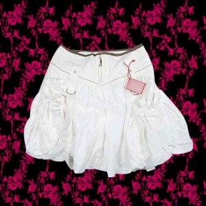 Sale! Marithe+Francois Girbaud Summer cotton skirt white