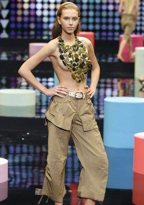 Sale! Marithe+Francois Girbaud Cotton Pants Khaki