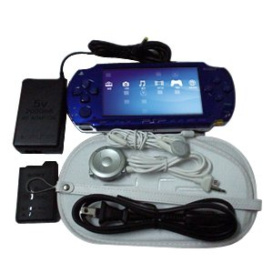 New Blue Sony PSP With 300 Games...Plus Accessories
