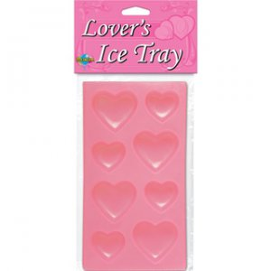 Heart Shaped Lovers Ice Tray Pink
