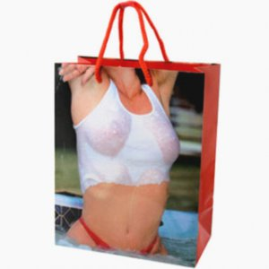 Girl Wet Tank Top Gift Bag