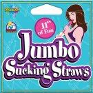 Jumbo Sucking Straw 11 Inch Pink