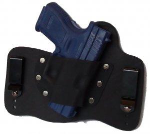 FoxX Leather & Kydex IWB Holster Springfield XD9 & XD40 Subcompact RH BlacK