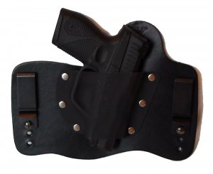 FoxX Leather & Kydex IWB Holster Taurus PT709 Slim 9MM Hybrid Holster RH Black