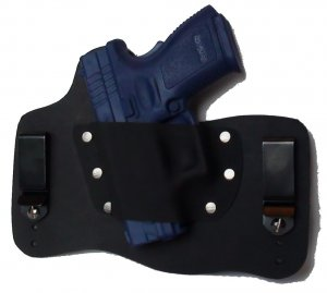 FoxX Leather & Kydex IWB Holster Springfield XD9 & XD40 Subcompact Left Hand BLK
