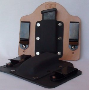 FoxX Leather & Kydex IWB Magazine Holster Carrier M&P Shield 9MM & .40cal