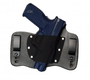 FoxX Leather & Kydex IWB Hybrid Holster Springfield XDM 3.8 9mm & 40 cal Black Right