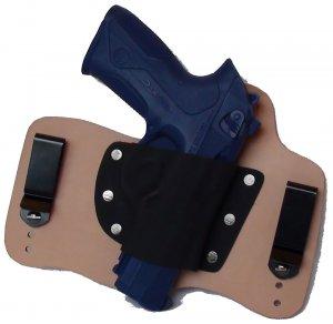 FoxX Leather & Kydex IWB Holster Beretta PX4 Storm Hybrid RH Natural/Tan
