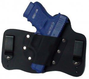 FoxX Leather & Kydex IWB Holster Glock 36 .45 caliber Hybrid Holster RH Black