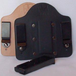 FoxX Leather & Kydex IWB  Magazine Holster Carrier Kel Tec PF9 9mm