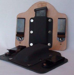 FoxX Leather & Kydex IWB Magazine Holster Carrier Kahr 9MM