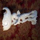 Antique vintage Cupid Cherub soap dish white