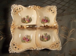 Vintage antique ceramic candy dish