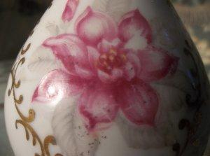 Porcelain floral and gold vintage antique bud vase  Japan