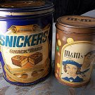 Vintage reproduction mars candy tins M&Ms Snickers
