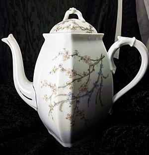 Antique vintage Karlsbad & co porcelain tea coffee pot