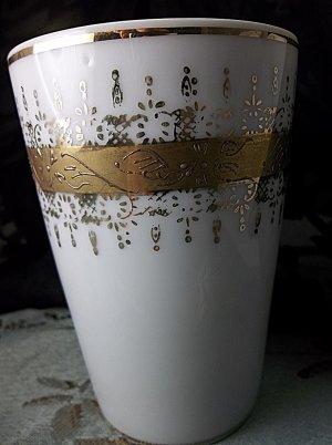 Antique vintage numbered gold on porcelain cup
