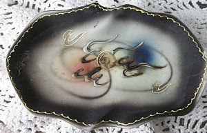 Antique vintage Dragon-ware ashtray, smoking memorabilia