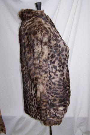 Unique Rare Vintage Dyed Rabbit Fur Leopard or Cheetah Print Polo Norte