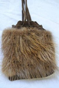 Small Beaver Fur Purse made in Canada