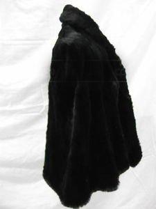 Ladies David Furs Black Shoulder Wrap SO Soft Rabbit Fur