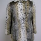 Tri Colored Faux Fur With Maroon Lining Size Medium