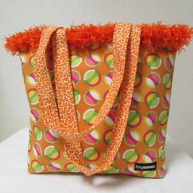 NWOT Large Custom Bag Daddy Orange Retro Shoulder Bag Shoppers Tote