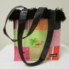 NWOT Bag Daddy Unique Two-Sided Themed  Multi Colored Medium Tote Bag