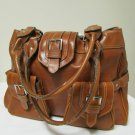 Large Beautiful Brown Satchel Shoulder Messenger Baguette Tote Bag